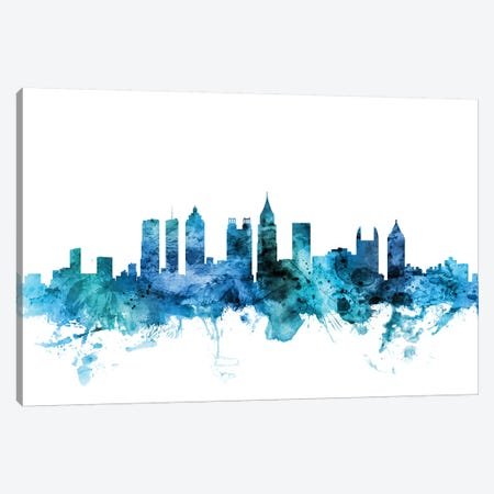 Atlanta, Georgia Skyline Canvas Print #MTO1217} by Michael Tompsett Canvas Artwork