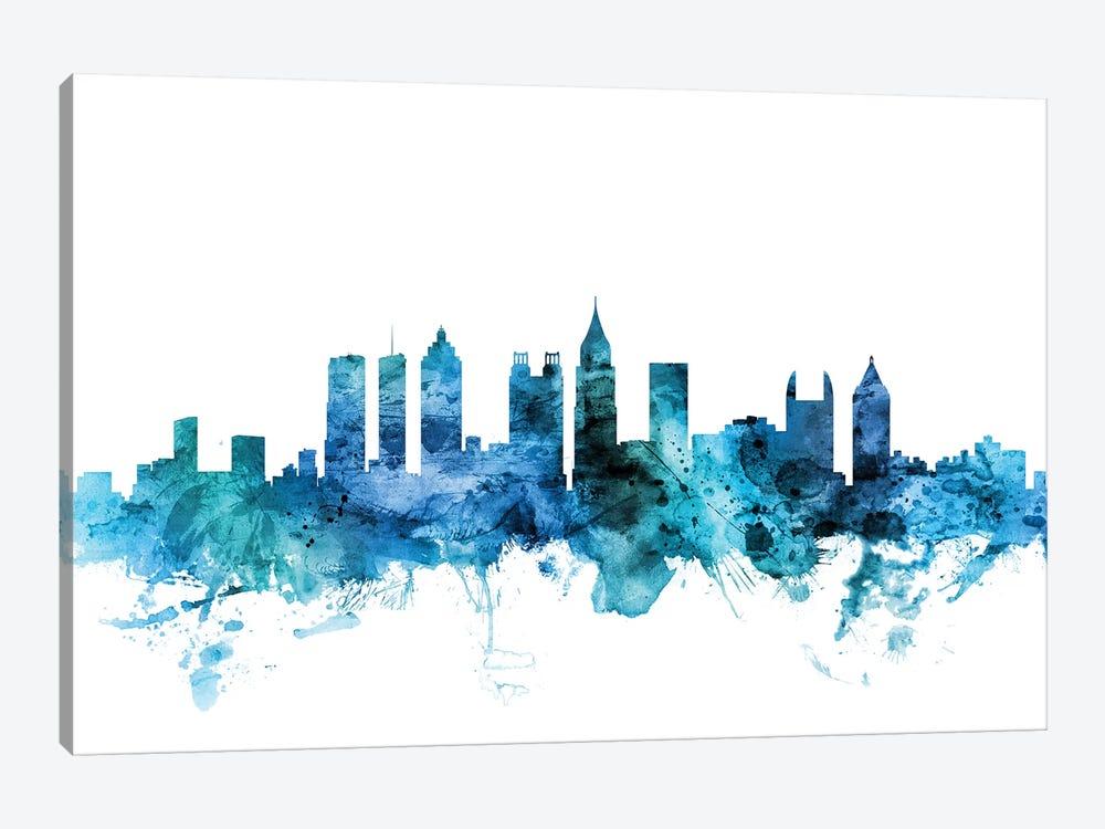 Atlanta, Georgia Skyline by Michael Tompsett 1-piece Canvas Wall Art