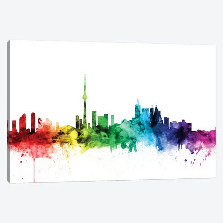 Toronto, Canada Canvas Print #MTO121} by Michael Tompsett Canvas Wall Art