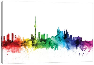 Rainbow Skyline Series: Toronto, Canada Canvas Print #MTO121