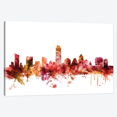 Austin, Texas Skyline Canvas Print #MTO1220} by Michael Tompsett Canvas Artwork