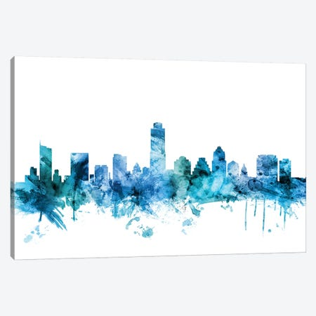 Austin, Texas Skyline Canvas Print #MTO1221} by Michael Tompsett Canvas Artwork