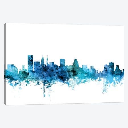 Baltimore, Maryland Skyline Canvas Print #MTO1223} by Michael Tompsett Canvas Wall Art