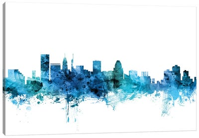 Baltimore, Maryland Skyline Canvas Art Print
