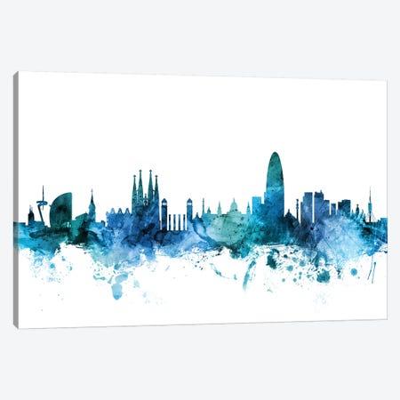 Barcelona, Spain Skyline Canvas Print #MTO1227} by Michael Tompsett Canvas Art Print