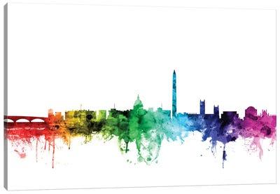 Rainbow Skyline Series: Washington, D.C., USA Canvas Print #MTO122
