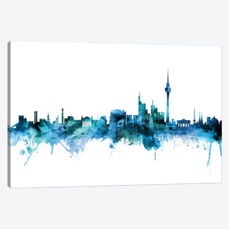Berlin, Germany Skyline Canvas Print #MTO1236} by Michael Tompsett Canvas Wall Art