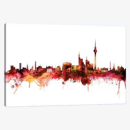 Berlin, Germany Skyline Canvas Print #MTO1237} by Michael Tompsett Canvas Artwork