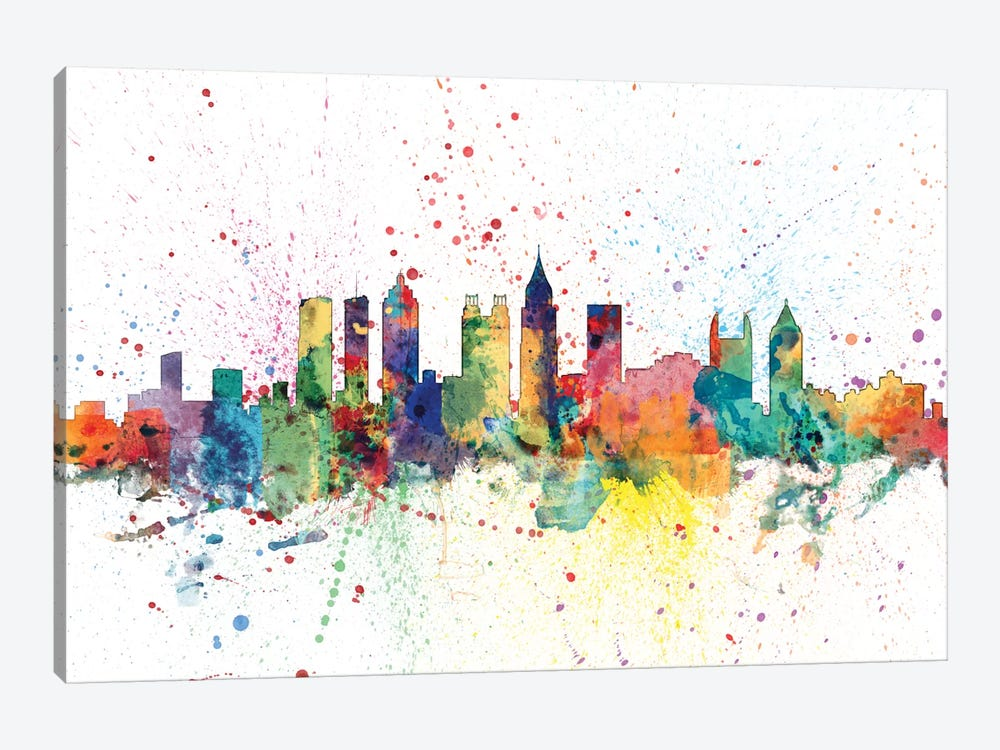 Atlanta, Georgia, USA by Michael Tompsett 1-piece Canvas Print