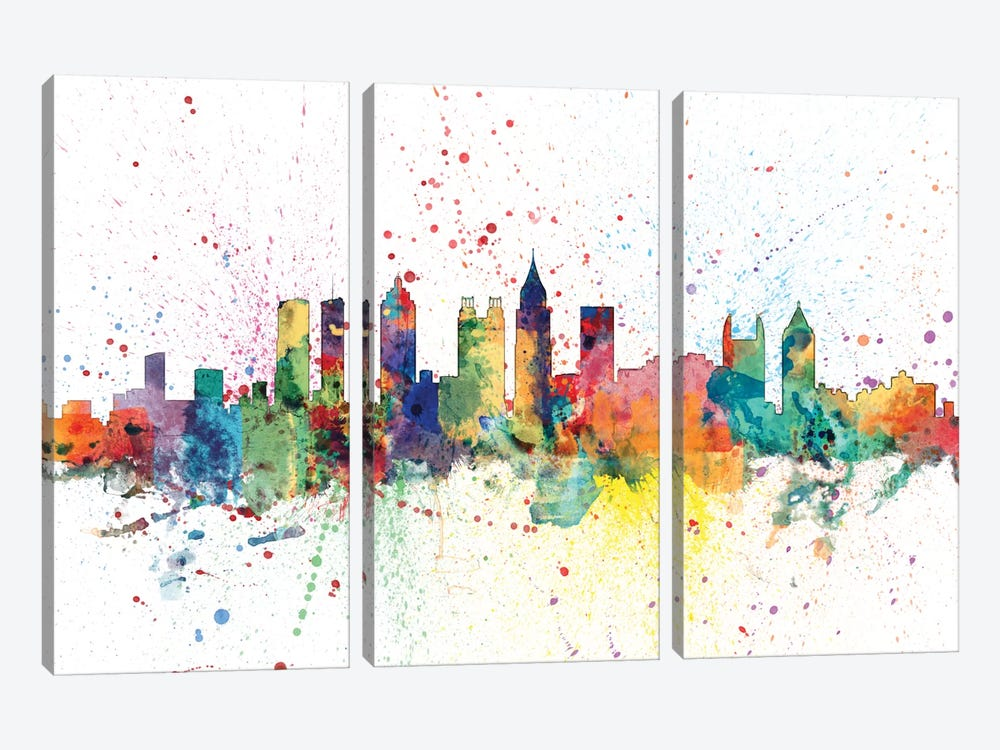 Atlanta, Georgia, USA by Michael Tompsett 3-piece Canvas Art Print