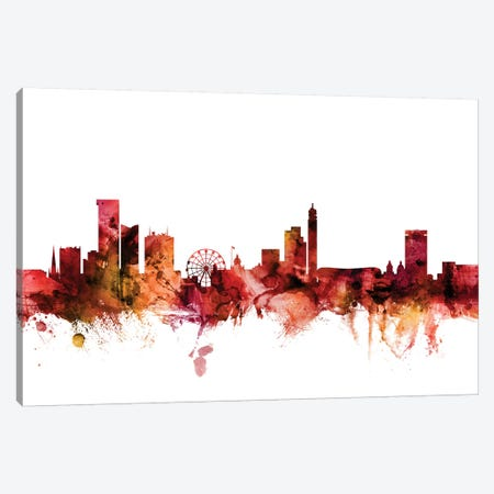 Birmingham, England Skyline Canvas Print #MTO1240} by Michael Tompsett Canvas Artwork