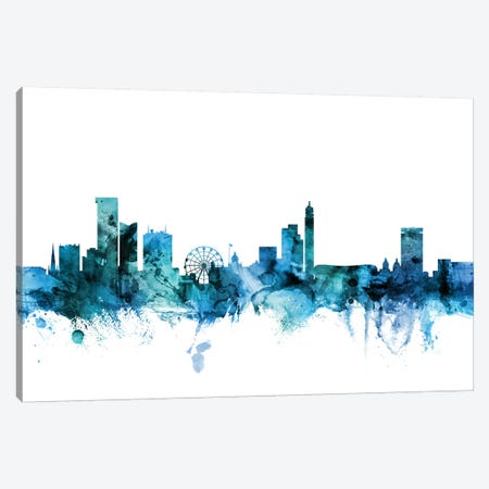 Birmingham, England Skyline Canvas Print #MTO1241} by Michael Tompsett Canvas Art
