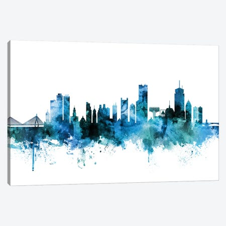 Boston, Massachusetts Skyline Canvas Print #MTO1244} by Michael Tompsett Canvas Print