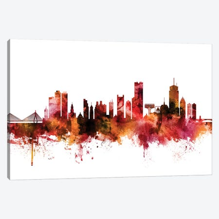 Boston, Massachusetts Skyline Canvas Print #MTO1245} by Michael Tompsett Canvas Print