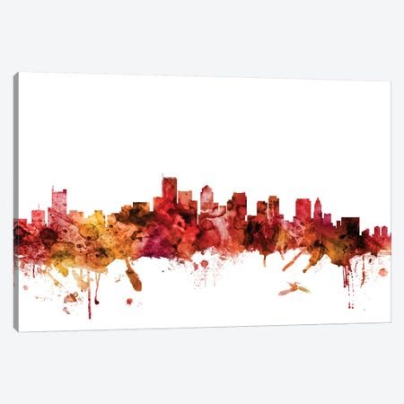 Boston, Massachusetts Skyline Canvas Print #MTO1246} by Michael Tompsett Canvas Print