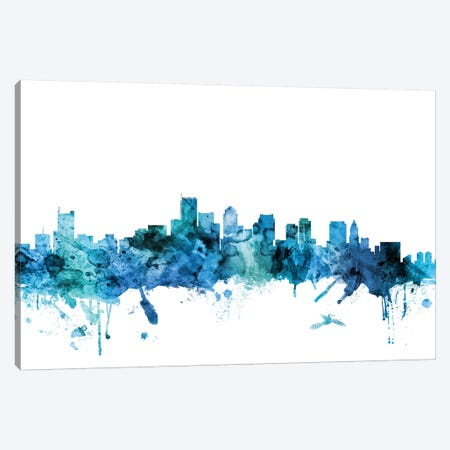 Boston, Massachusetts Skyline Canvas Print #MTO1247} by Michael Tompsett Canvas Art Print