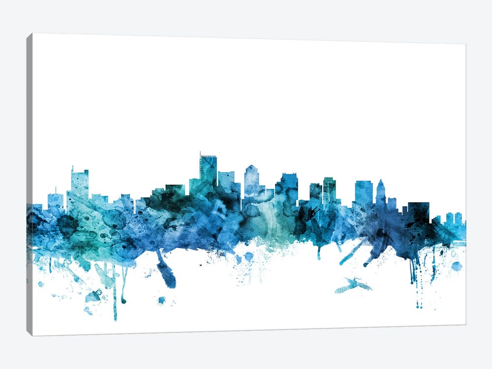 Boston, Massachusetts Skyline by Michael Tompsett 1-piece Art Print