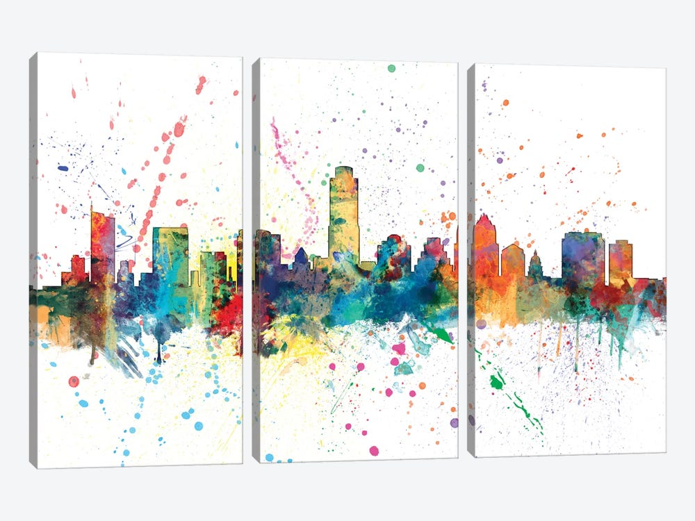 Austin, Texas, USA 3-piece Canvas Art