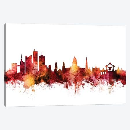 Brussels, Belgium Skyline Canvas Print #MTO1258} by Michael Tompsett Canvas Art Print
