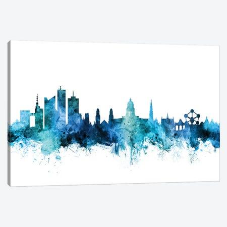 Brussels, Belgium Skyline Canvas Print #MTO1259} by Michael Tompsett Canvas Art Print