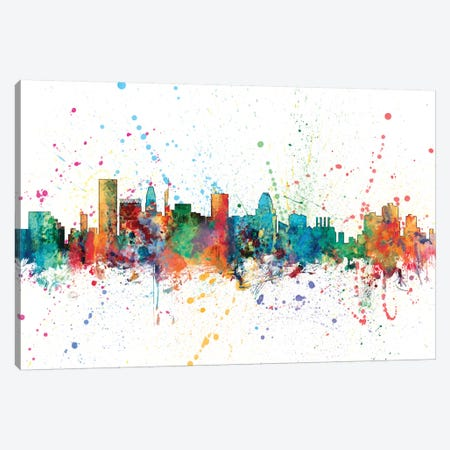 Baltimore, Maryland, USA Canvas Print #MTO125} by Michael Tompsett Art Print