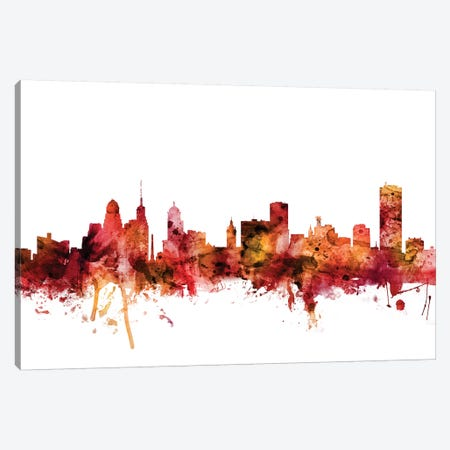 Buffalo, New York Skyline Canvas Print #MTO1260} by Michael Tompsett Canvas Artwork