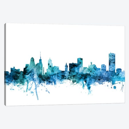 Buffalo, New York Skyline Canvas Print #MTO1261} by Michael Tompsett Canvas Wall Art