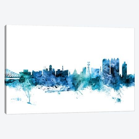 Calcutta (Kolkata), India Skyline Canvas Print #MTO1265} by Michael Tompsett Art Print