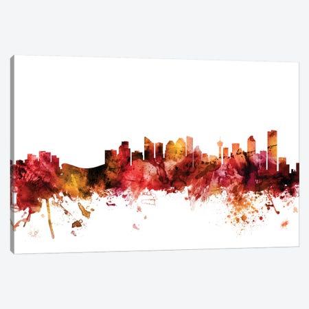 Calgary, Canada Skyline Canvas Print #MTO1266} by Michael Tompsett Canvas Print