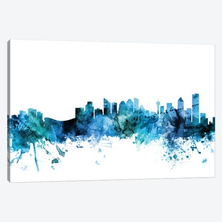 Calgary, Canada Skyline Canvas Print #MTO1267} by Michael Tompsett Art Print