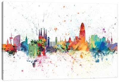 Barcelona, Spain Canvas Art Print