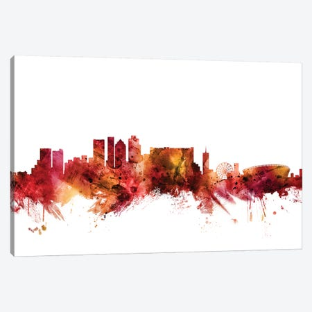 Cape, Town South Africa Skyline Canvas Print #MTO1271} by Michael Tompsett Art Print