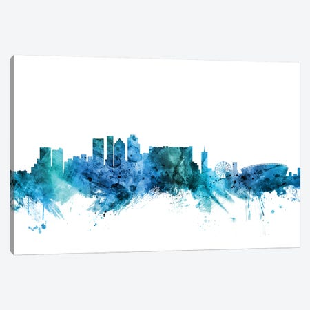 Cape, Town South Africa Skyline Canvas Print #MTO1272} by Michael Tompsett Canvas Print