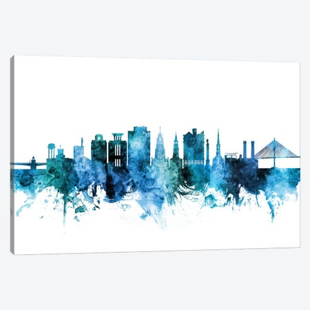 Charleston, South Carolina Skyline Canvas Print #MTO1279} by Michael Tompsett Canvas Art Print