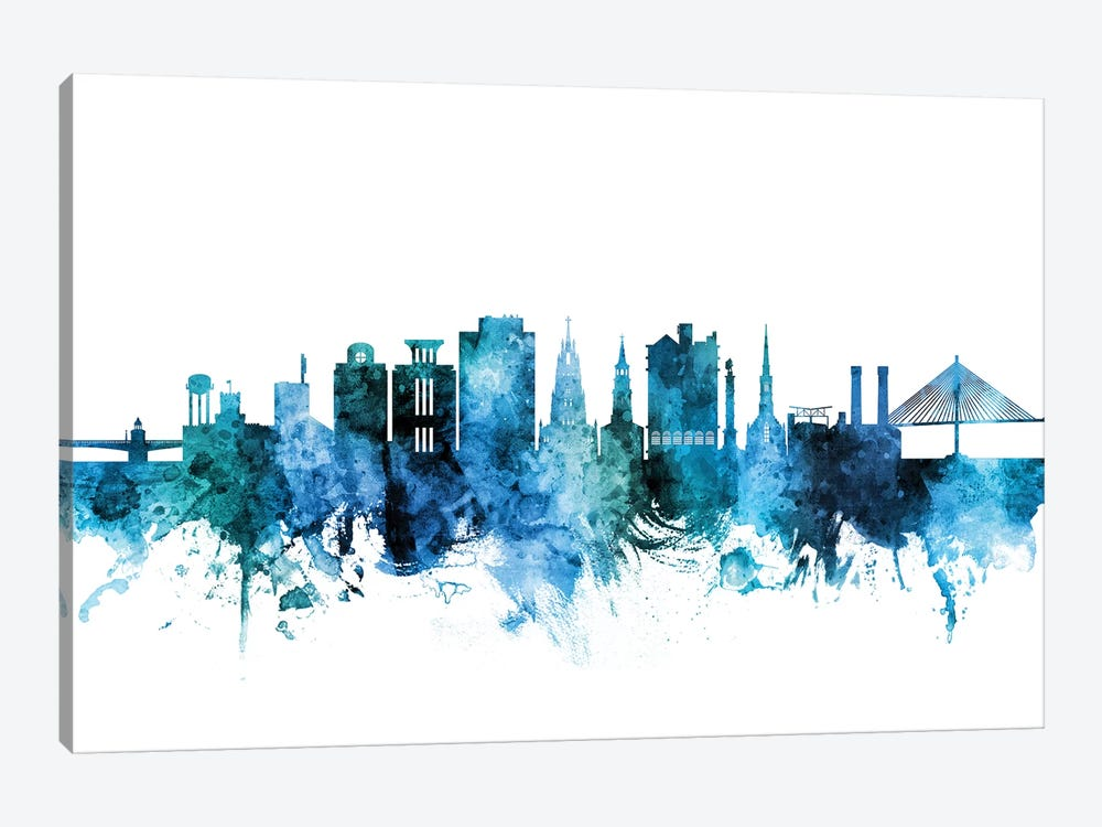 Charleston, South Carolina Skyline by Michael Tompsett 1-piece Canvas Art