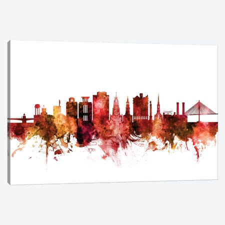Charleston, South Carolina Skyline Canvas Print #MTO1280} by Michael Tompsett Canvas Wall Art