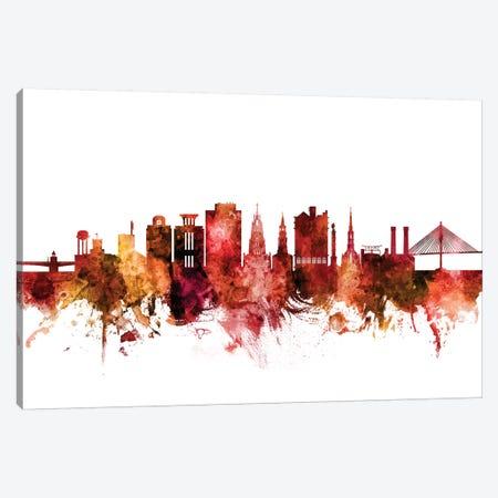 Charleston, South Carolina Skyline Canvas Print #MTO1280} by Michael Tompsett Canvas Wall Art