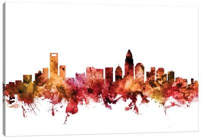 Charlotte, North Carolina Skyline Canvas Art Print