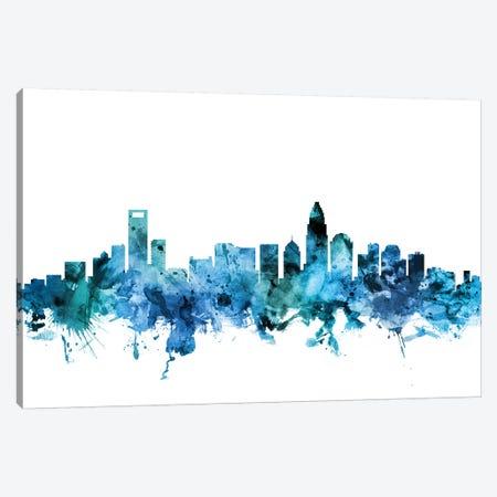 Charlotte, North Carolina Skyline 3-Piece Canvas #MTO1282} by Michael Tompsett Canvas Artwork