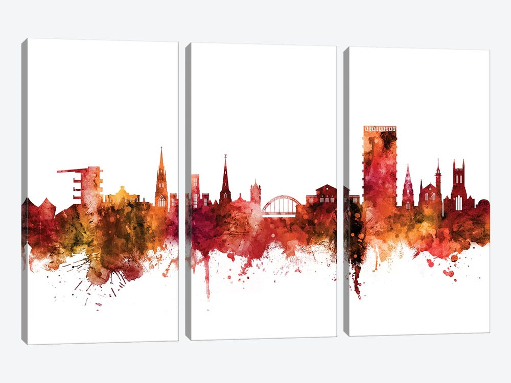 Cheltenham, England Skyline 3-piece Canvas Wall Art