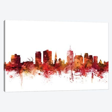 Christchurch, New Zealand Skyline Canvas Print #MTO1289} by Michael Tompsett Canvas Art