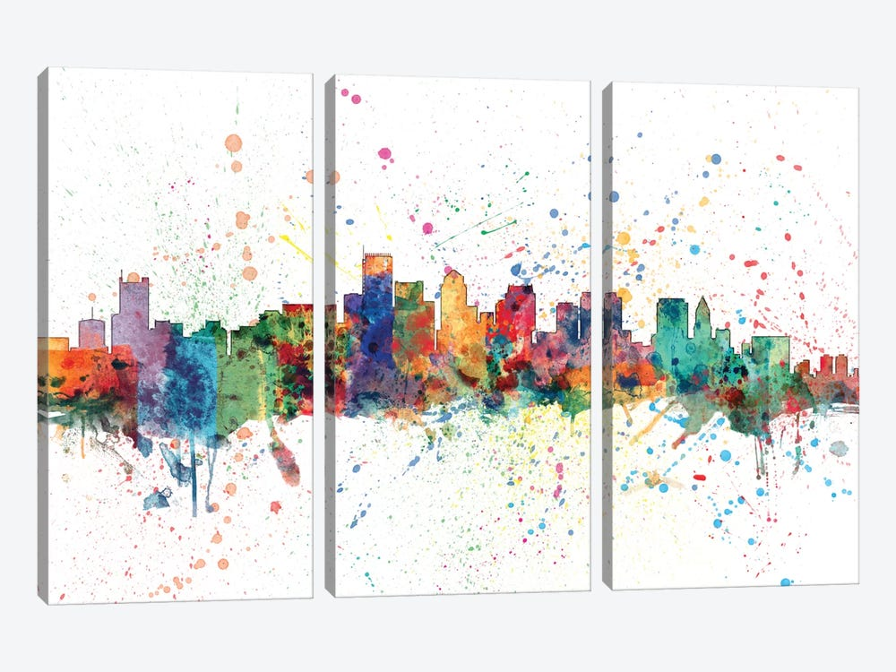 Boston, Massachusetts, USA by Michael Tompsett 3-piece Canvas Art