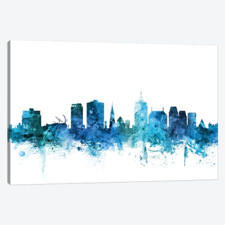 Christchurch, New Zealand Skyline Canvas Print #MTO1290} by Michael Tompsett Canvas Art Print