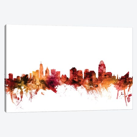 Cincinnati, Ohio Skyline Canvas Print #MTO1291} by Michael Tompsett Canvas Art Print