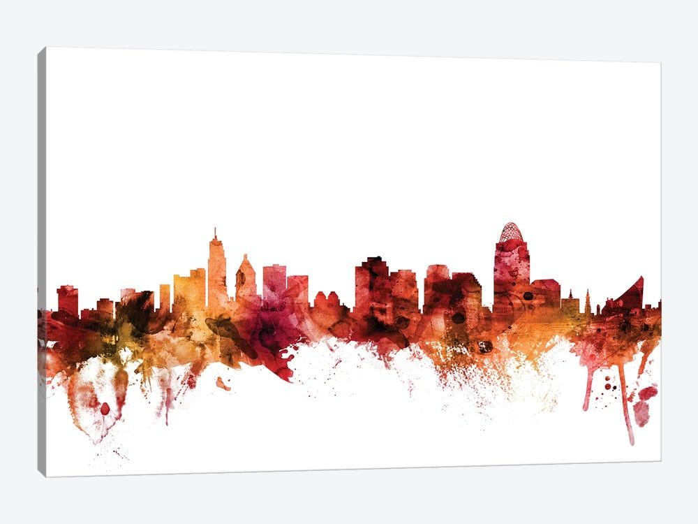 Cincinnati, Ohio Skyline by Michael Tompsett 1-piece Canvas Artwork