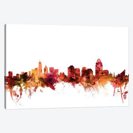 Cincinnati, Ohio Skyline Canvas Print #MTO1291} by Michael Tompsett Canvas Art Print