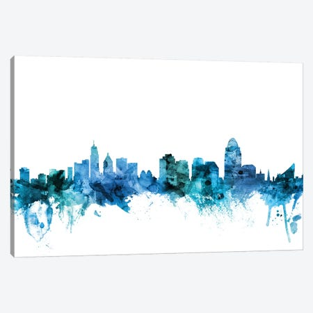 Cincinnati, Ohio Skyline Canvas Print #MTO1292} by Michael Tompsett Canvas Print