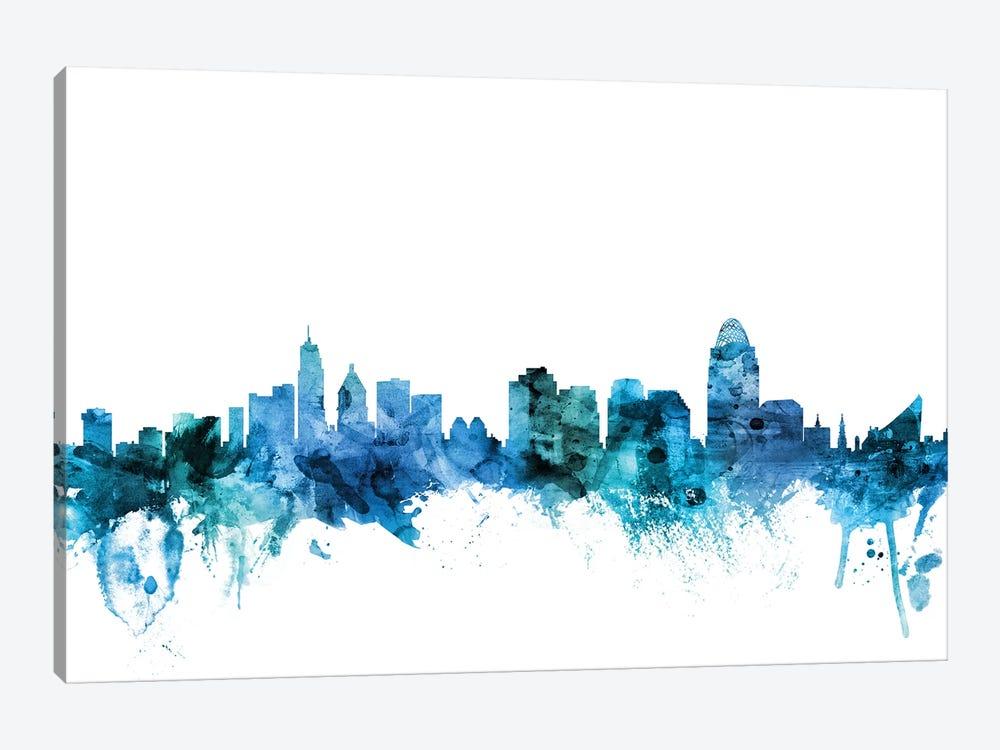 Cincinnati, Ohio Skyline by Michael Tompsett 1-piece Canvas Art Print