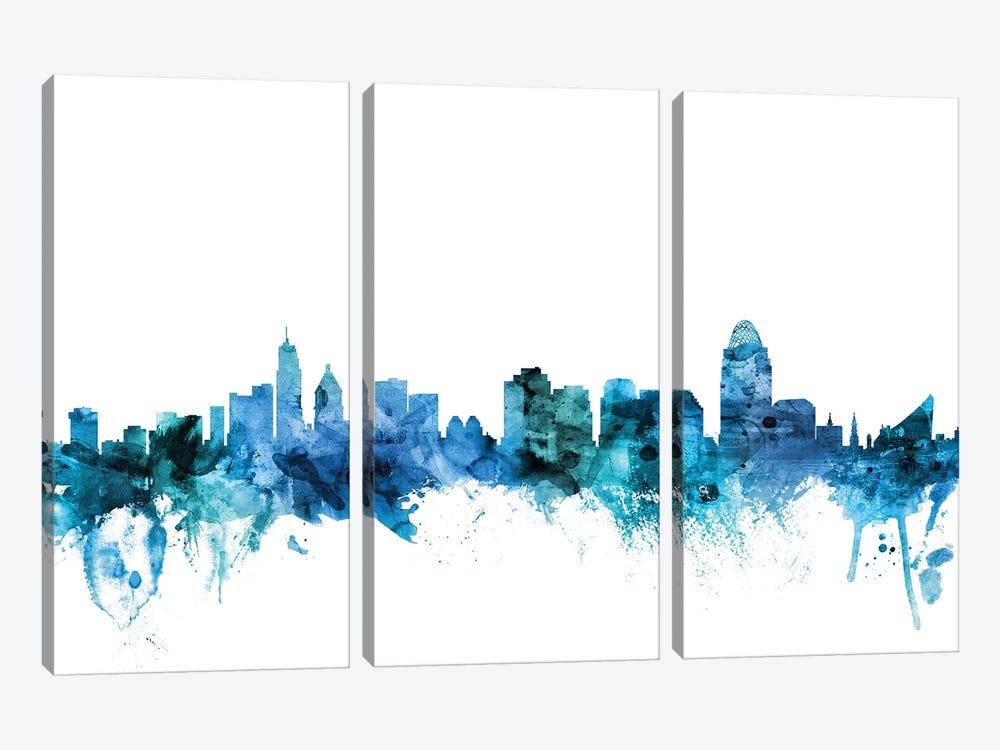 Cincinnati, Ohio Skyline by Michael Tompsett 3-piece Canvas Art Print