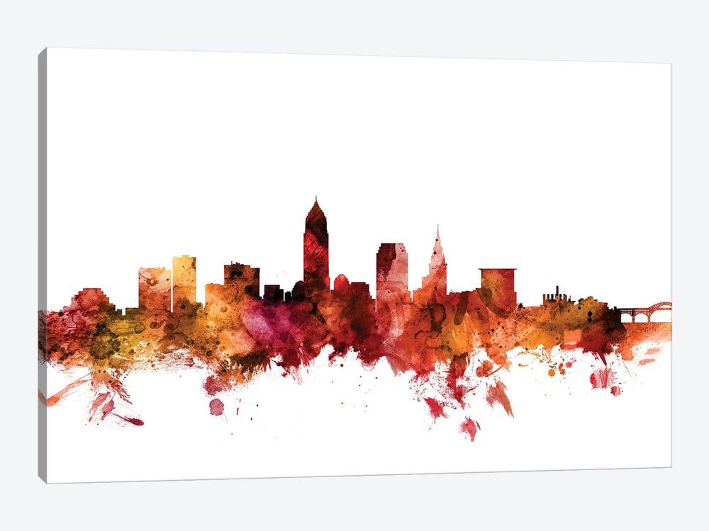 Cleveland, Ohio Skyline by Michael Tompsett 1-piece Canvas Art